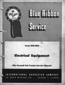 IH-Blue-Ribbon-Service-GSS-1012-Electrical-Equipment