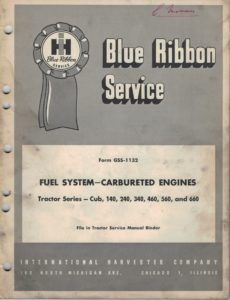 IH-Blue-Ribbon-Service-GSS-1132-Fuel-System-Carbureted-Engines